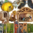 Pumpkin toy house slideshow glittering effect