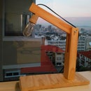 Simple Vaguely Swedish-looking Wooden Table Lamp