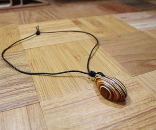 Layered Wood Pendant Necklace