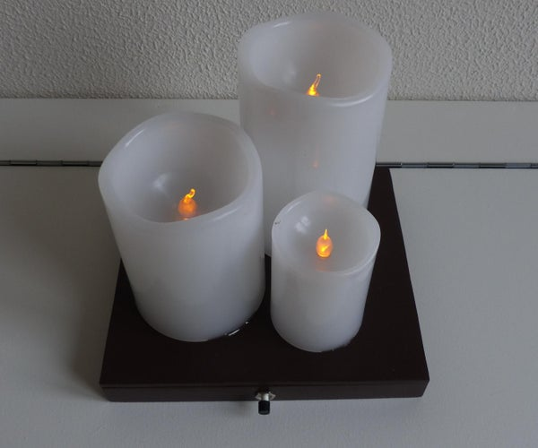 Three Electronic Candles
