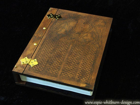 Engraved Book, Book of Shadows, Grimoire, Journal, Notebook, Visual Diary