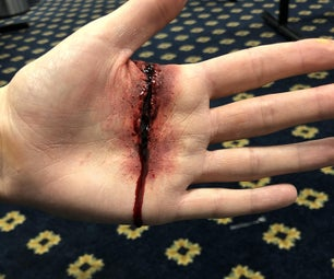 Realistic Stage Makeup Bloody Wound (Ben Nye Products)