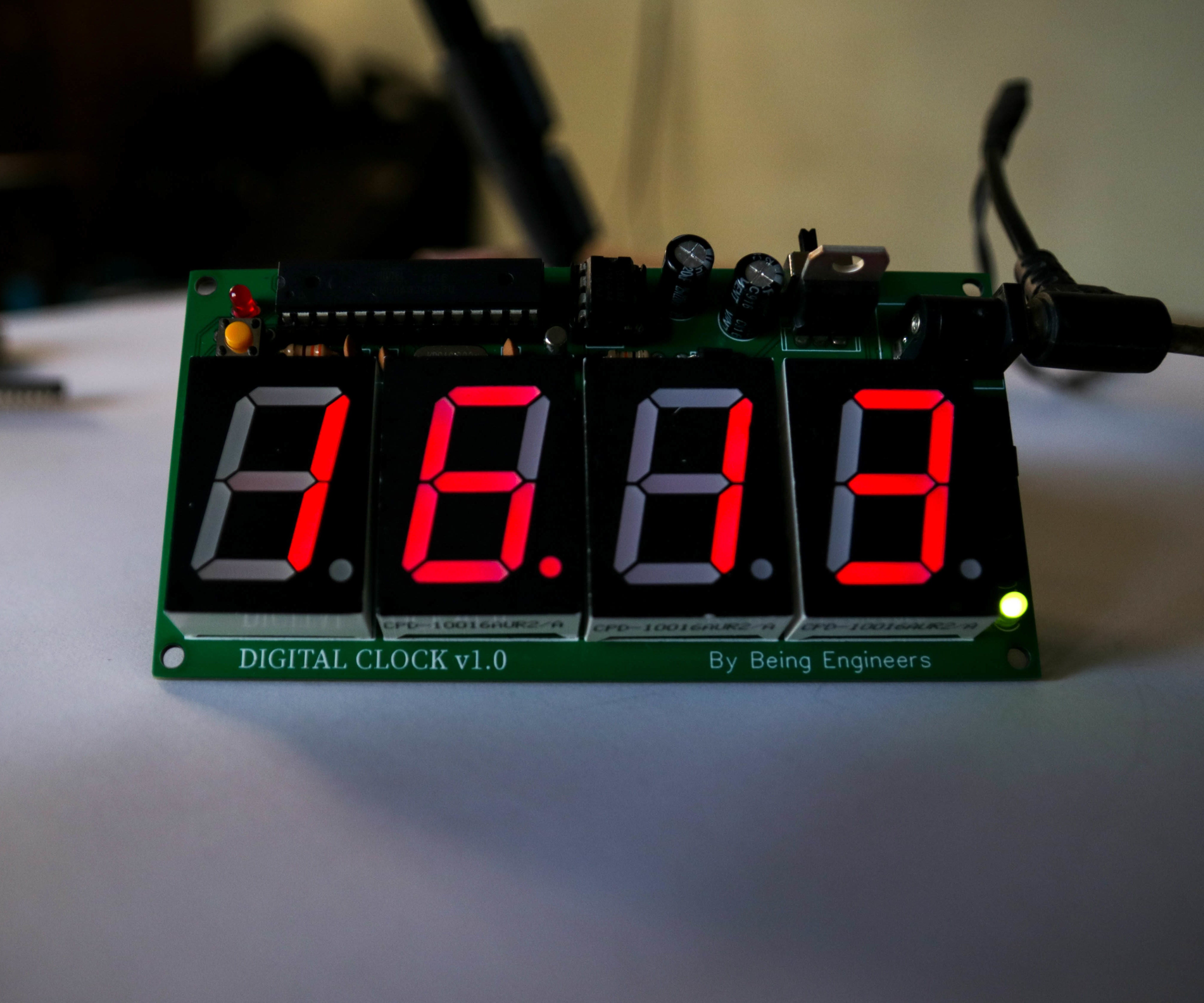 7-Segment Uhranzeige 4 Bit Clock Rot Common Cathode DIY-Elektronik Arduino