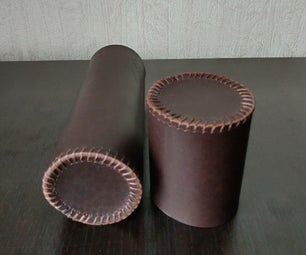 Cylindrical Leather Case