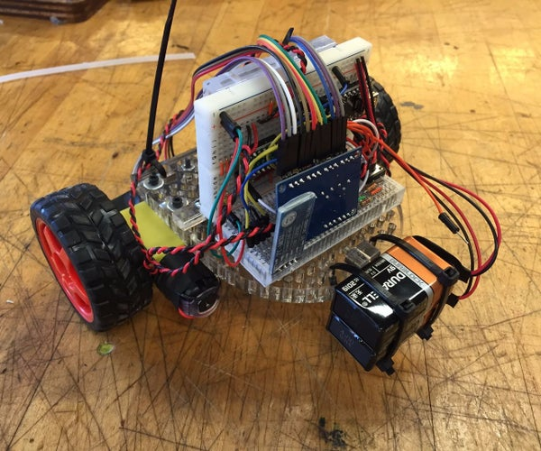 Bluetooth Controlled Line-Following Car