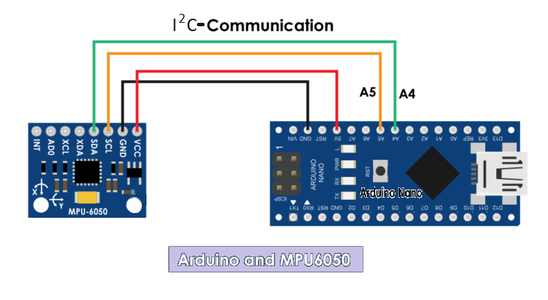 MPU6050-Atmega328p  Connections