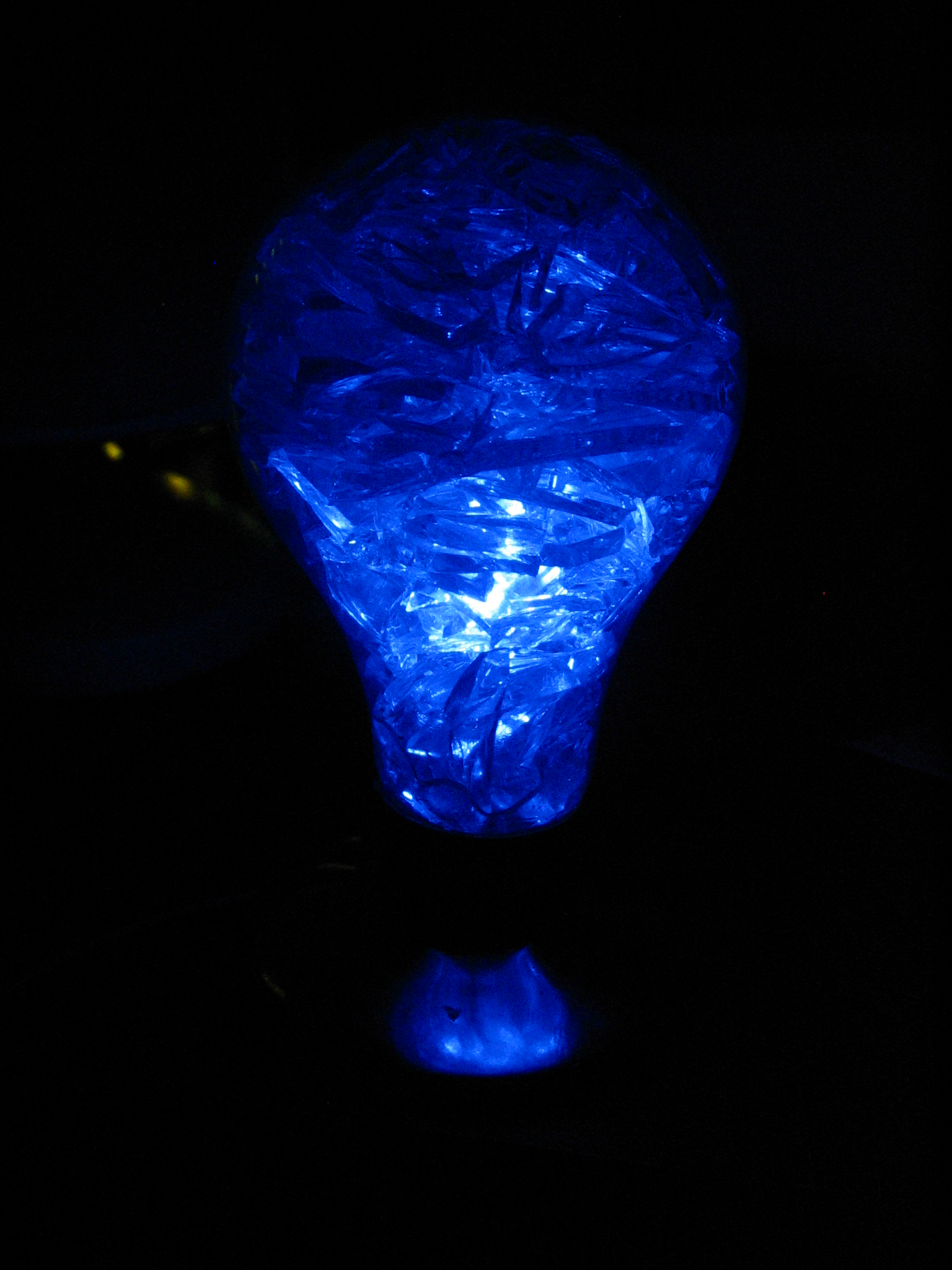 Get the LED out: Glass Filled LED Lightbulb