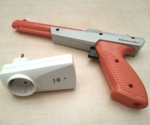Shoot the Lights With a NES Zapper (RF 433MHz)