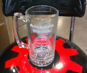 Laser Etched Beer Mug Alignment System