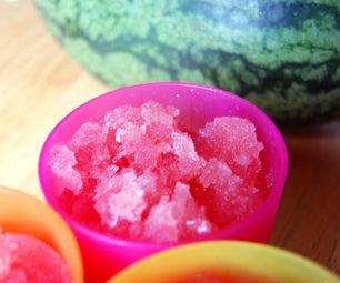 Watermelon Champagne Granita
