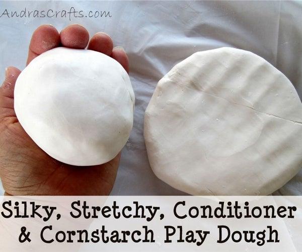 Silky, Stretchy, Conditioner & Cornstarch Play Dough