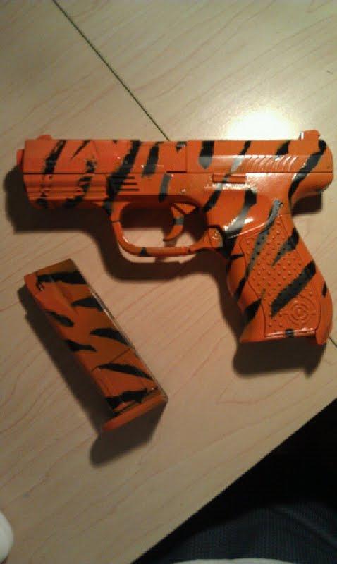 DIY camouflage airsoft gun!