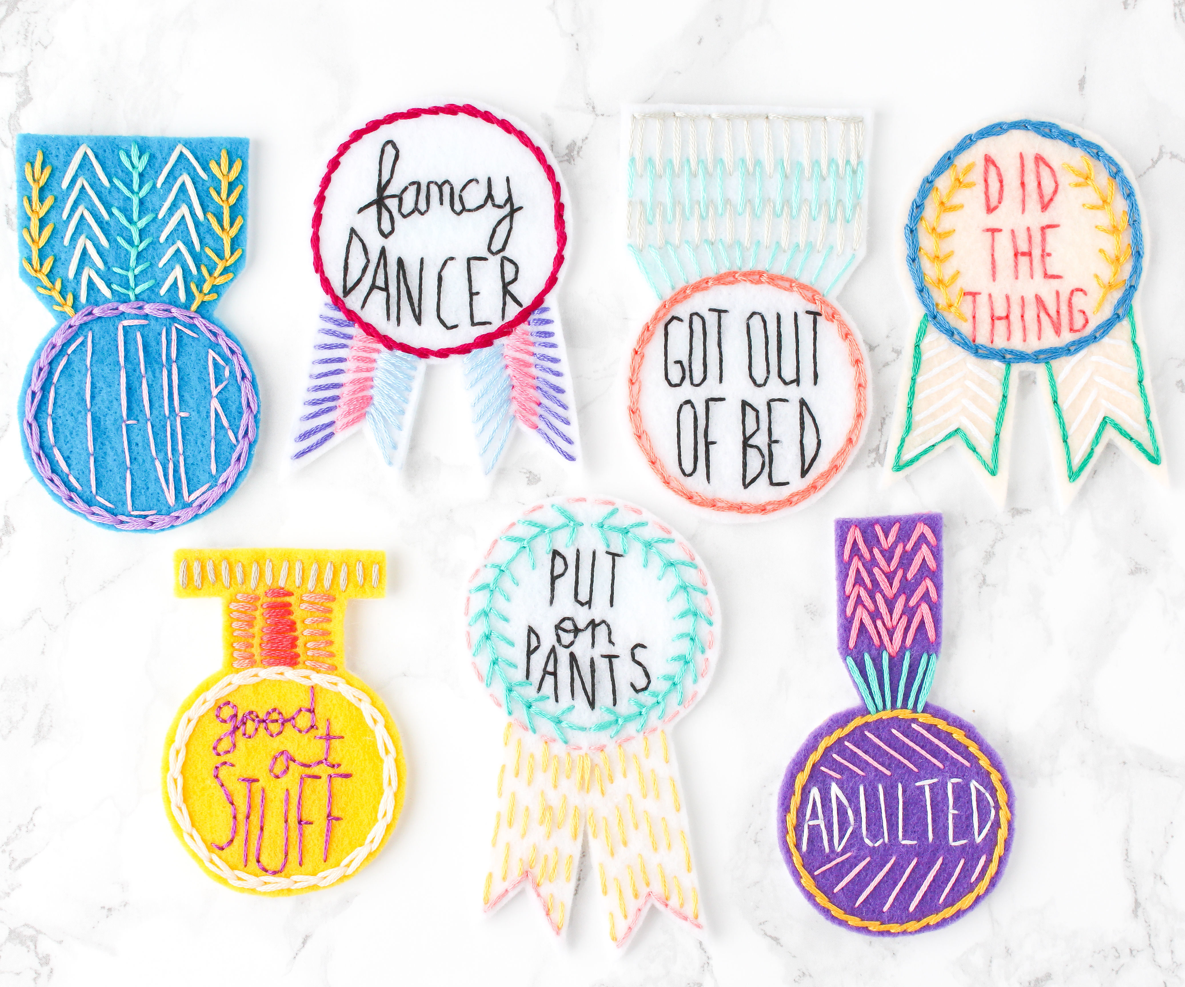 DIY Hand Embroidered Medal Patches