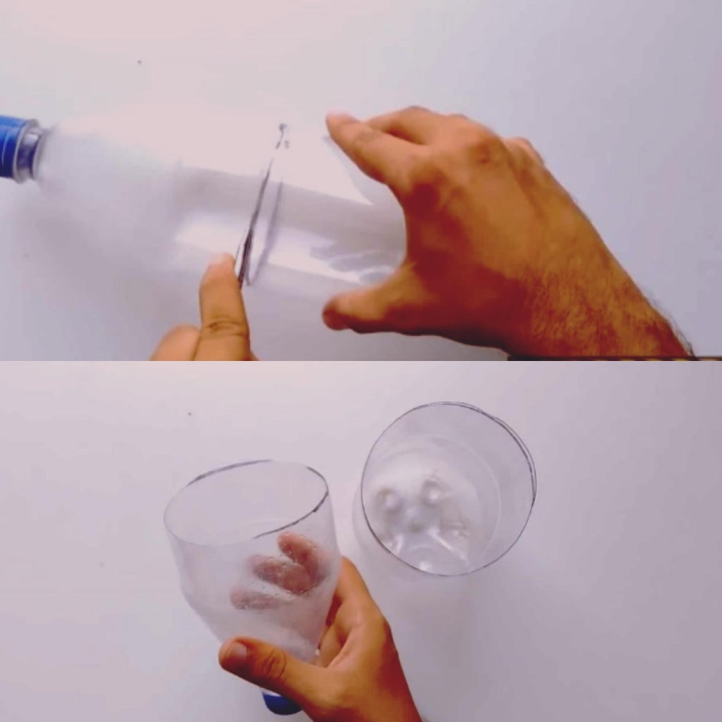 Cutting of the Plastic Bottle