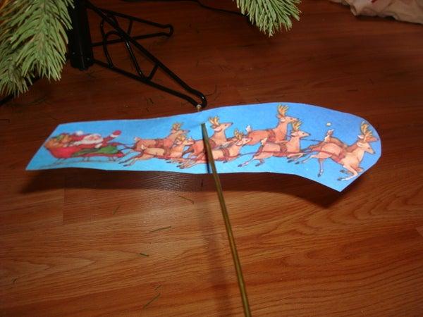Flying Santa Ornament