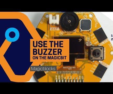 Use the Buzzer on the Magicbit [Magicblocks]