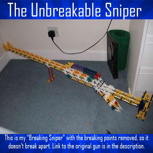 The Unbreakable K'nex Sniper