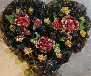 Flower Arrangements Using Recycled Plastic