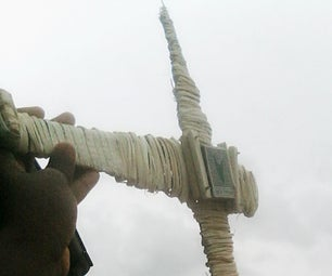 Going Green: Making a Glider Out of  a Raffia Stick Only