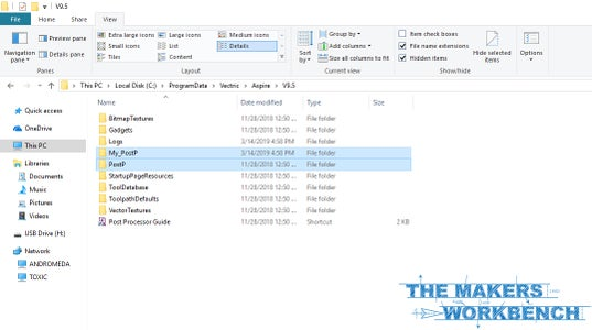 Decide Which Post Processor Folder to Use