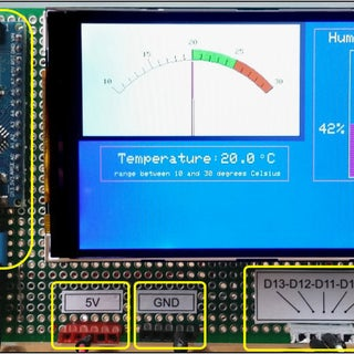 Arduino Sketch for a Retro Analogue Meter Graphic on a Modern TFT Display