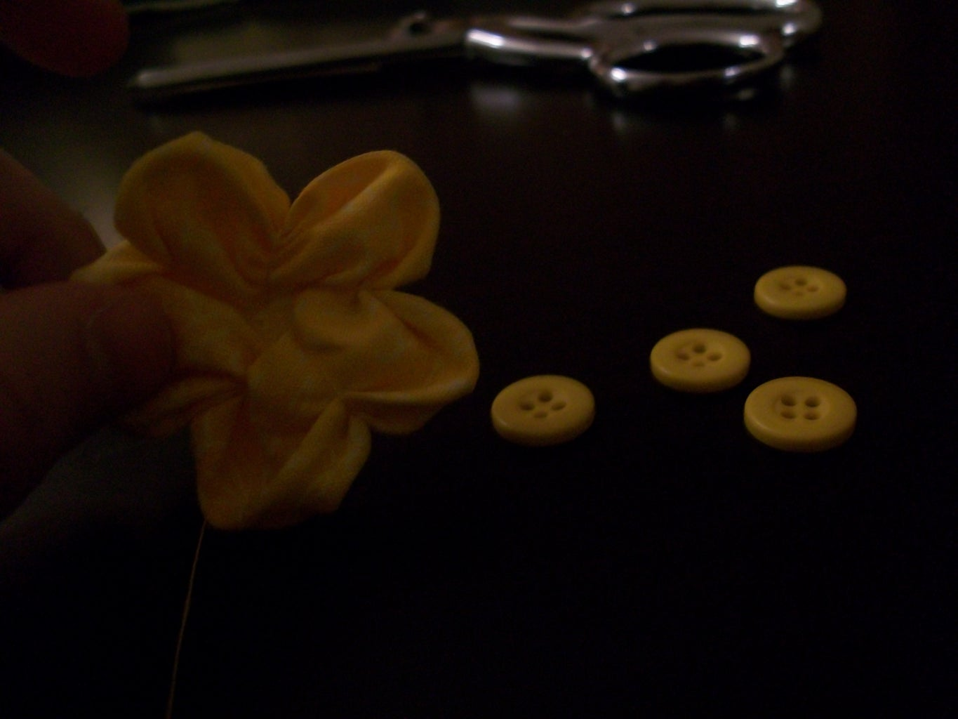 Step 8 - Sewing the Buttercups