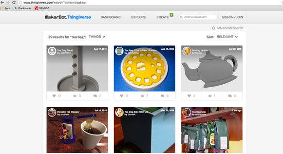 Type in Your Browser: Thingiverse.com