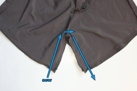 Step 4: Sew Crotch of Shorts