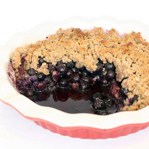 Easy Blueberry Crumble   Paleo Friendly