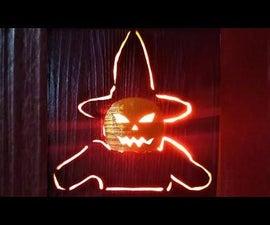 How to Make Backlit Pallet Halloween Pumpkin Wall Art