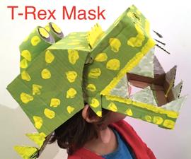 Easy-to-Make Cardboard T-Rex Mask (Stapler & Glue Modelling Tips)