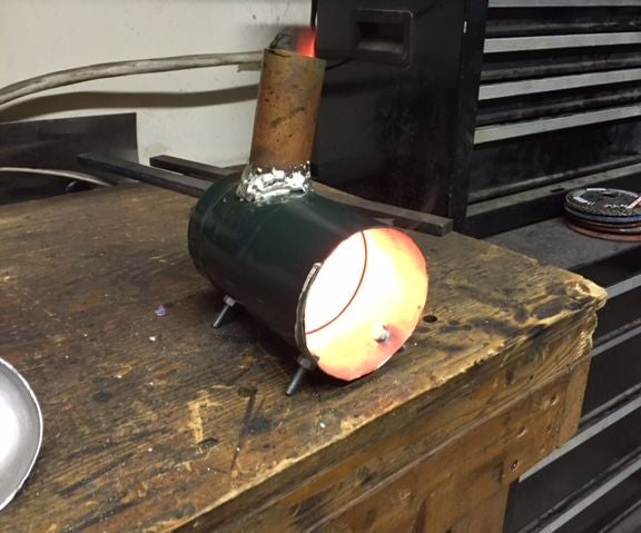 Propane Tank Wood Stove for $5