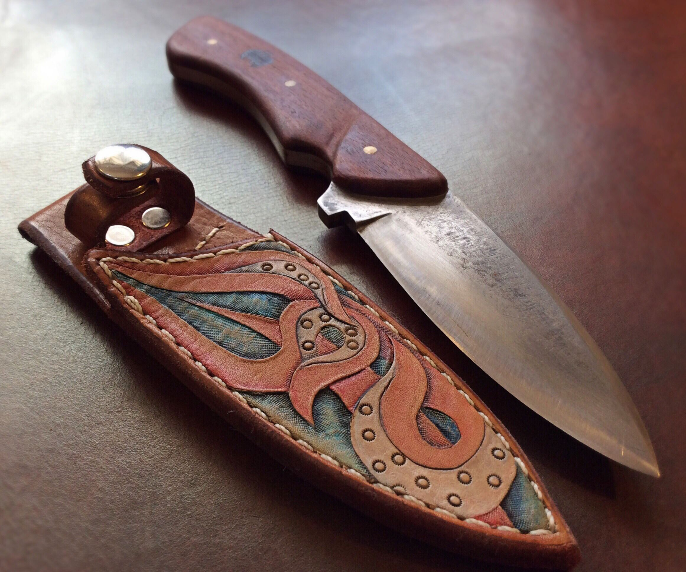 Tooled Leather Sheath