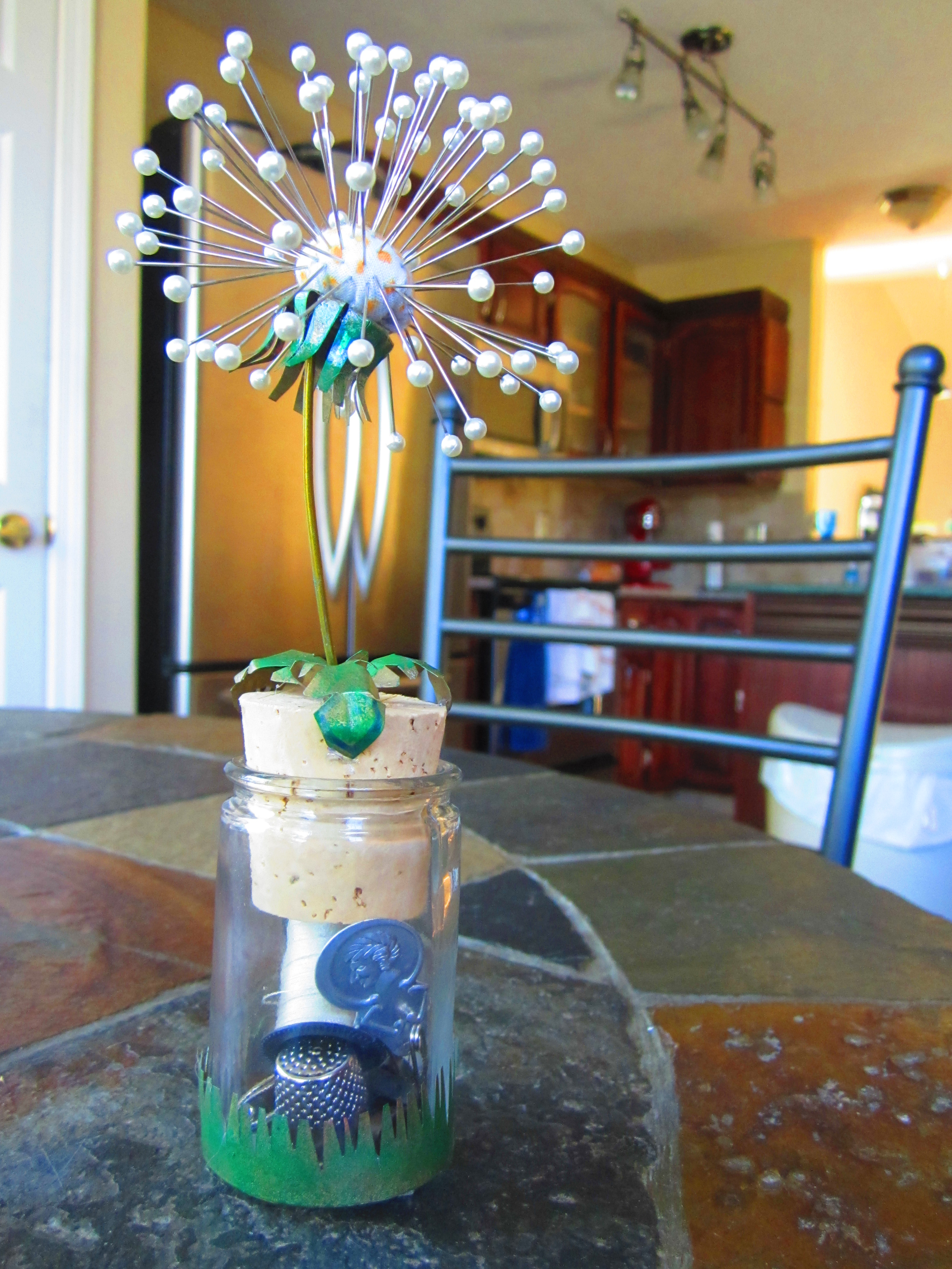 Dandelion Pincushion and mini sewing kit