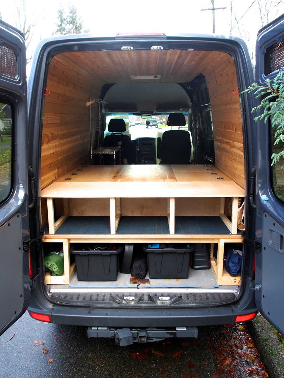 Bed Table And Benches For Camper Van All In One 19 Steps With Pictures Instructables