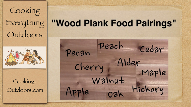 Wood Plank Food Pairings