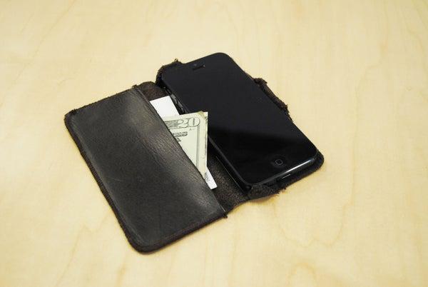 IPhone 5 Case, of Leather and Titanium