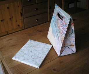 From Old Tourist Map to Gift Bag / De Mapa Viejo a Bolsa De Regalo
