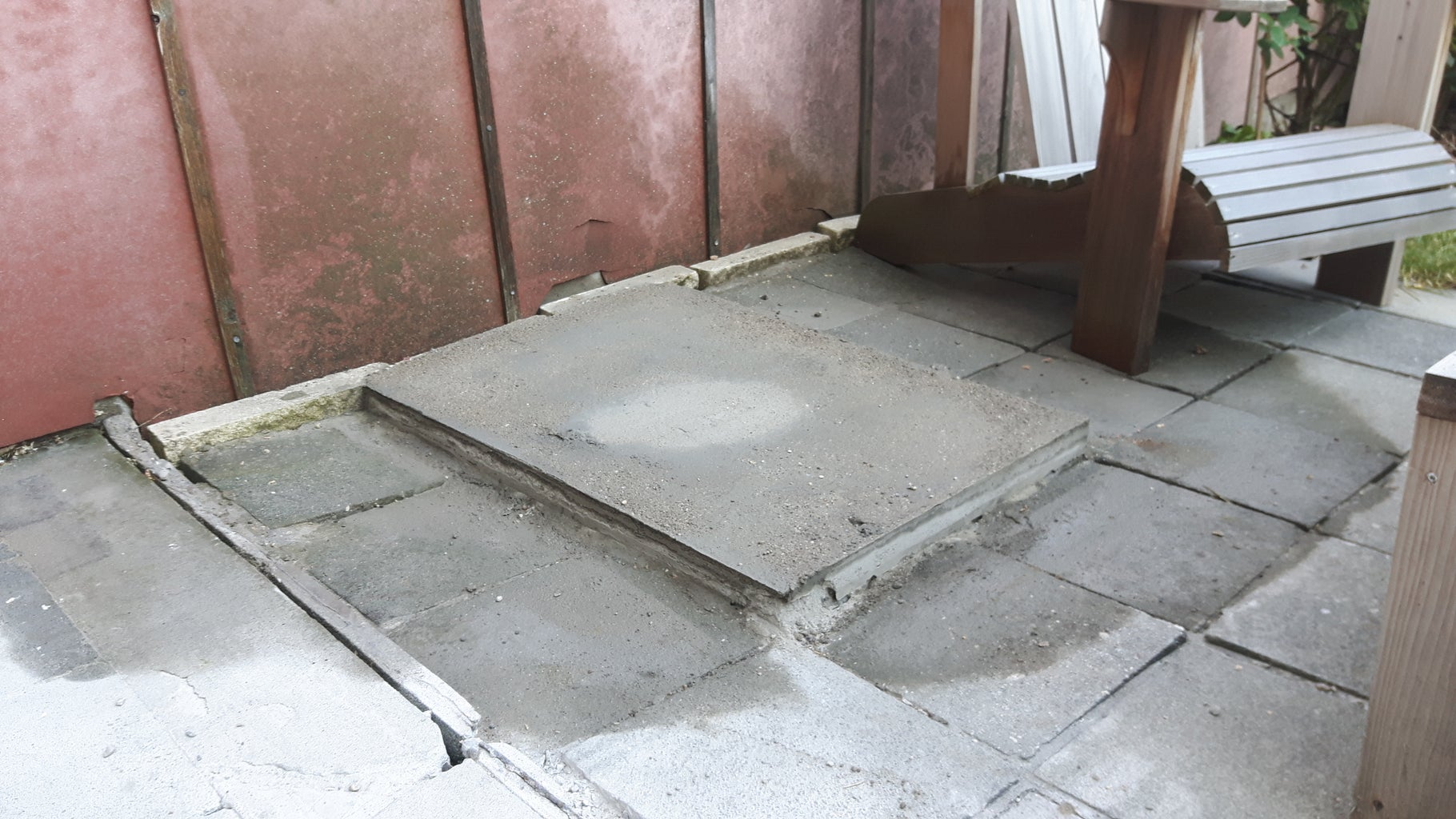 Putting in a Concrete Slab for the Stairs