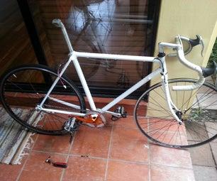 Light Cycle: Programmable RGB LED Strips on Bike Frame
