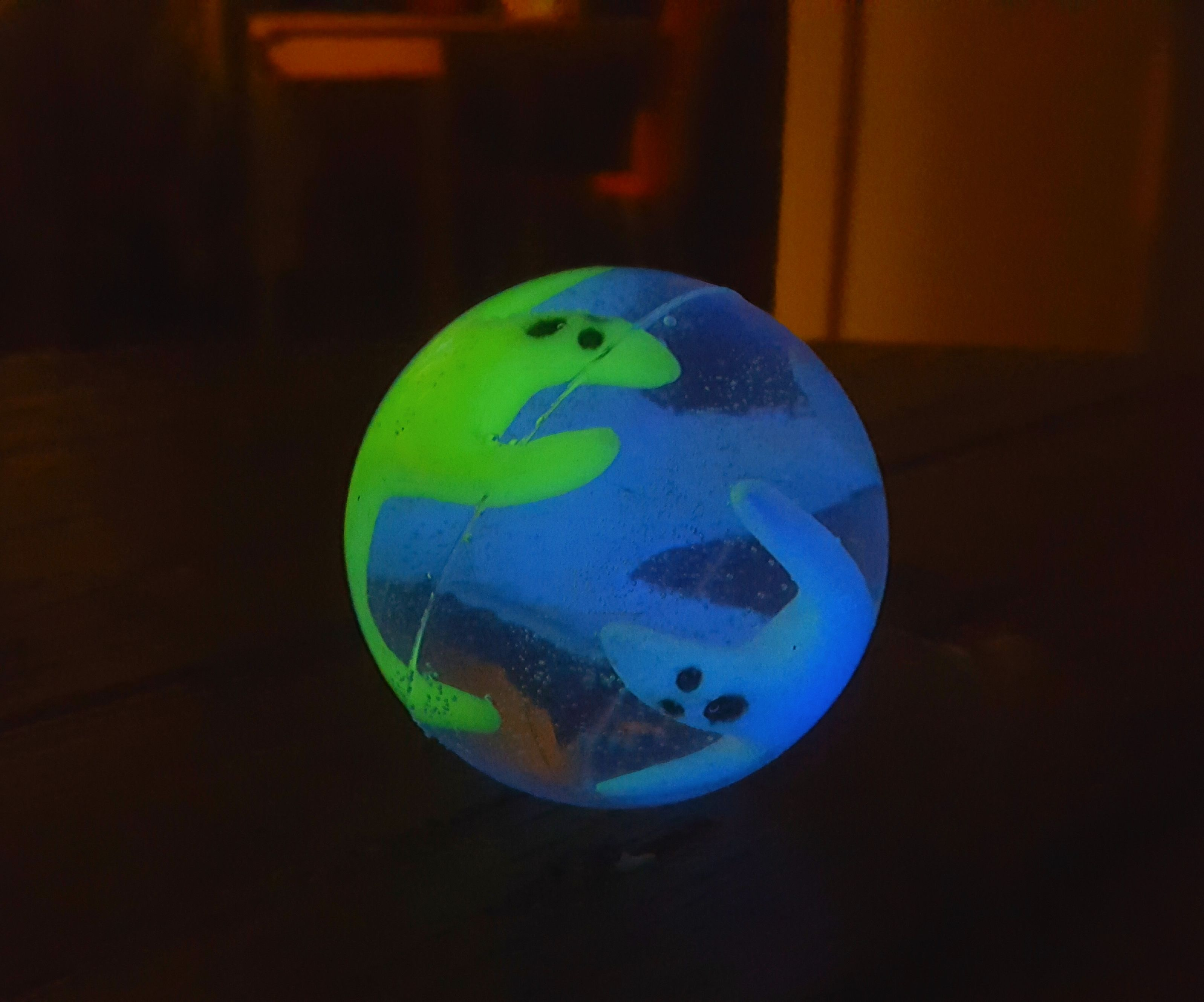 Ghosts in a Shell Bouncing Ball