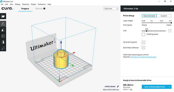 Starting Your Print on the Ultimaker2Go