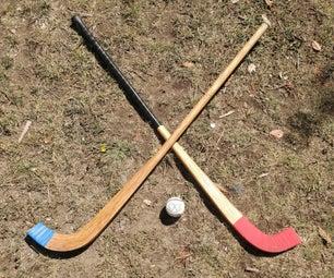Shinty Sticks and Laminating Jig