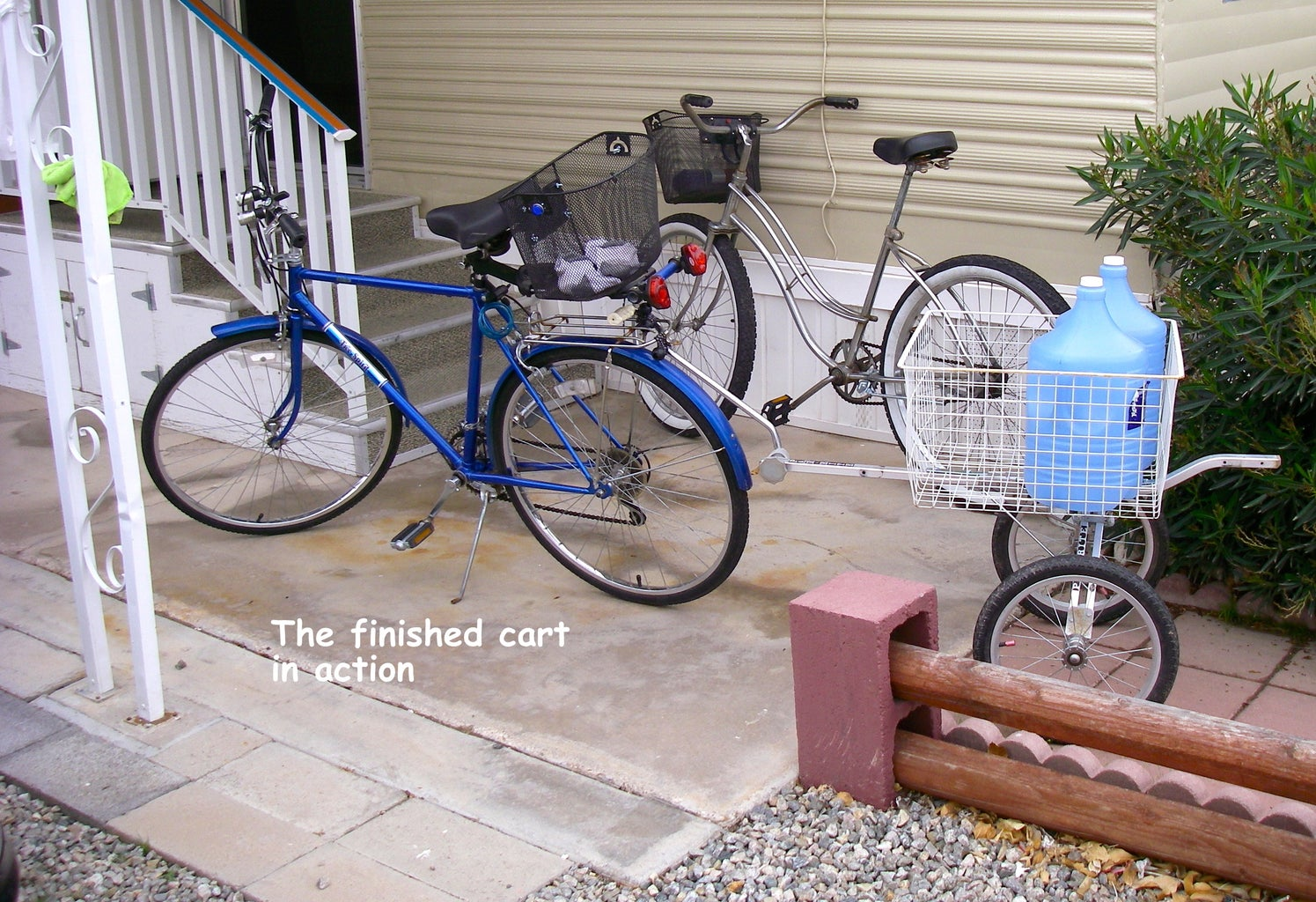 BICYCLE UTILITY CART FROM OLD GOLF PULL CART