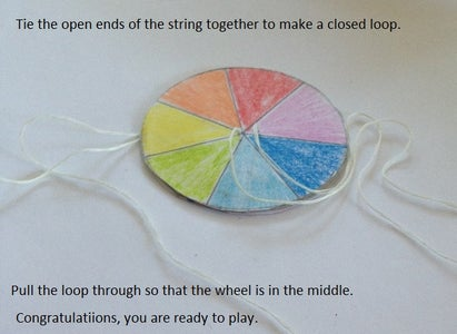 Knot the String to Form the Loop and Start Spinning