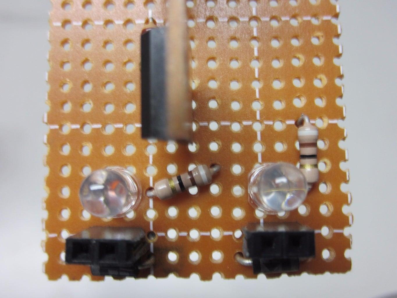 Solder the LED Resistors