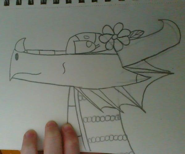 How to Draw a Cute RainWing Dragon
