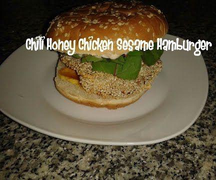 Chili Honey Chicken Sesame Hamburger Recipe