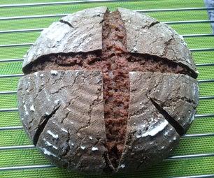 纯黑麦面包