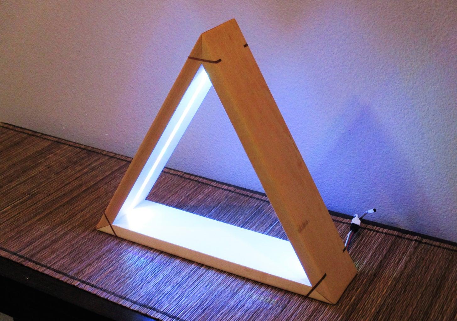 DIY LED Light - Modern Desktop Mood Lamp With Remote